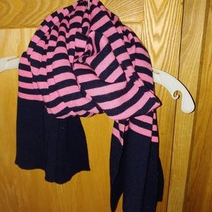 J. Crew Pink and Navy scarf